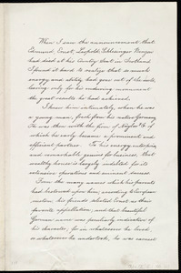 Biographical sketch and memorial tribute of Edmund Ernst Leopold Schlesinger Benzon, by Lydia Maria Child, Wayland, September 22nd 1873
