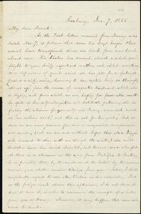 Letter from William Lloyd Garrison, Roxbury, [Mass.], to Francis Jackson Garrison, Dec. 7, 1866