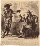 African American man talking to a caucasian man sitting at a table