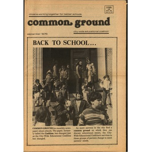 Common Ground: Citizens working together for better schools, September, 1976