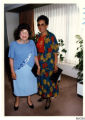 Photograph of Dorothy F. Steele and Nancy [?] on a cruise to Alaska, August, 1986
