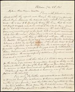 Letter from Lucretia Mott, Philad[elphi]a, [Penn.], to Anne Warren Weston, 7 mo[nth] 8th [day] 1841