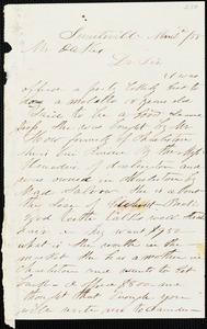 A. J. McElveen, Sumterville, S.C., autograph letter signed to Ziba B. Oakes, 2 March 1855