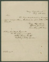 Letter from Gideon Welles to Commodore H. H. Bell