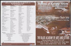 Program: Harvest of Katrina Voices