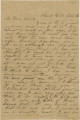 "Letter from Mary Ann and Alex Hall at Sand Hill, Alabama, to their son, Alex (""Ellick"")."