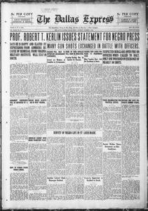 The Dallas Express (Dallas, Tex.), Vol. 28, No. 51, Ed. 1 Saturday, October 1, 1921 The Dallas Express