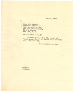 Letter from W. E. B. Du Bois to the New York Evening Post