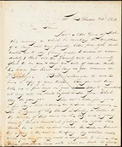 Letter from Henry Egbert Benson, Prov[idence, Rhode Island], to William Lloyd Garrison, 1834 February 23d