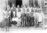 Class Portrait Rural Schoolteacher's Photographs P1194