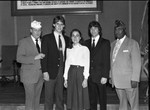 American Legion State Oratorical Contest officials and participants posing together, Los Angeles, 1983