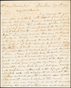 Thumbnail for Letter from Simeon Smith Jocelyn, New Haven, [Connecticut], to William Lloyd Garrison, 1831 Feb[ruary] 15th