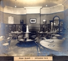 Hough Branch 1907: Carnegie building interior, reference room