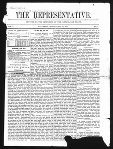 The Representative. (Galveston, Tex.), Vol. 1, No. 1, Ed. 1 Monday, May 22, 1871 The Representative