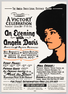 Flyer Advertising an Evening with Angela Davis