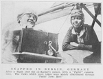 Bessie Coleman, aviatrix; Snapped in Berlin, Germany