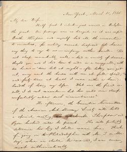 Letter from William Lloyd Garrison, New York, to Helen Eliza Garrison, March 13, 1835