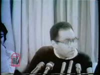 WSB-TV newsfilm clip of a press conference with Bob Moses and James Forman of the Student Nonviolent Coordinating Committee about the upcoming Mississippi Freedom Summer, 1964