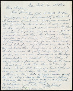Letter from Edward Morris Davis, New York, to Maria Weston Chapman, 3 m[onth] 10 [day] 1843