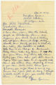 """Letter from Mrs. Leona Lyman to Gov. McAlister requesting aid for the """"colored people"""" of Clarksville, Tenn."""