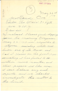 Letter from J. L. Davison to the Crisis
