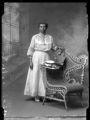 Black woman in long dress