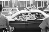White students in a car, protesting the integration of West End High School in Birmingham, Alabama.