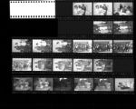 Set of negatives by Clinton Wright including Variety Club at Doolittle, weddings, Madison basketball team, Jo Mackey staff, Mrs. Simmons picnic, trophy at Jo Mackey, Mrs. French and Pughsley at Sahara, 1966