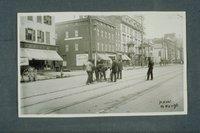 Trolley track work, South Main Street, Hartford, November 16, 1896