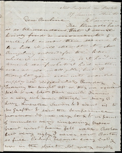 Letter from Deborah Weston, New Bedford no [sic] Boston, 39 Summer Street, to Caroline Weston, Sat. morn[ing], [June 1, 1844]