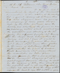 Letter from A Practical Universalist, Waltham, [Massachusetts], to William Lloyd Garrison, 1849 Aug[ust] 17