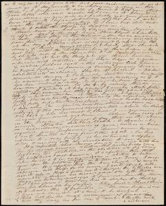 Partial letter from Caroline Weston, [Boston, Mass.], to Deborah Weston, [14 Feb. 1839?]