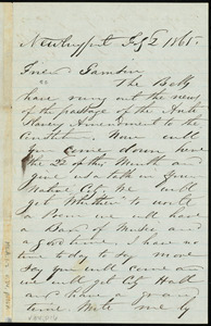 Letter from Richard Plumer, Newburyport, to William Lloyd Garrison, Feb. 2, 1865