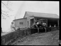 Boy with mule at well coming from home of negro; on way to San Luis