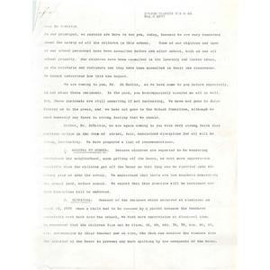 Letter, Principal DiMattia, May 6, 1975.