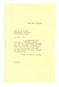 Letter from W. E. B. Du Bois to V. C. Green