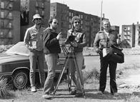 """Film crew shooting """"City of Nations"""""""