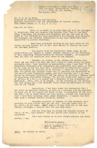 Letter from Earl W. McCowan to W. E. B. Du Bois