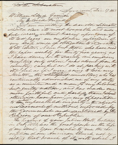 Letter from Samuel Joseph May, Syracuse, [N.Y.], to William Lloyd Garrison, Dec[ember] 17. 1865