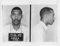 Mississippi State Sovereignty Commission photograph of William Benjamin Mitchell following his arrest for his participation in the Freedom Rides, Jackson, Mississippi, 1961 May 28