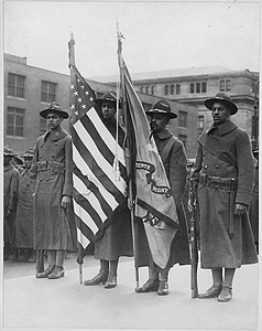 [African American] color bearers of 15th Regiment Infantry, New York National Guard, New York City....