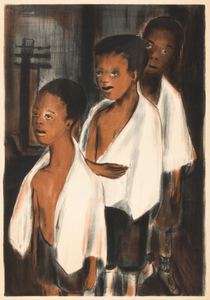 Untitled (Three Children with White Towels)