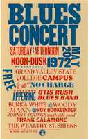 Blues concert with Otis Rush Blues Band, Bukka White, and others, May 20, 1972