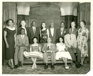 W. E. B. Du Bois and members of Phi Beta Kappa, Fisk University, 1958