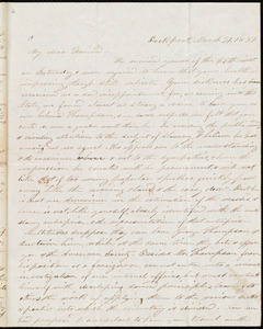 Letter from Stephen Symonds Foster, Lockport, to William Lloyd Garrison, March 31, 1851