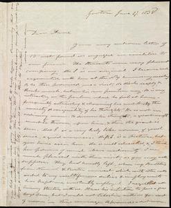 Letter from Amos Farnsworth, Groton, [Mass.], to Anne Warren Weston, June 27, 1838
