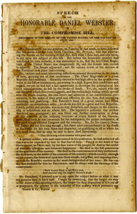 Speech of the Honorable Daniel Webster, on the Compomise bill, delivered in the Senate of the United States, on the 17th day of July, 1850.