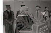 Singer Marian Anderson speaking on campus