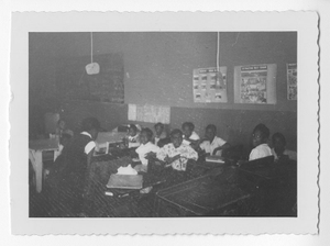 Photograph of African American students in a classroom, Clarkesville, Habersham County, Georgia, 1953
