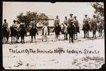 Black Seminole scouts on horseback